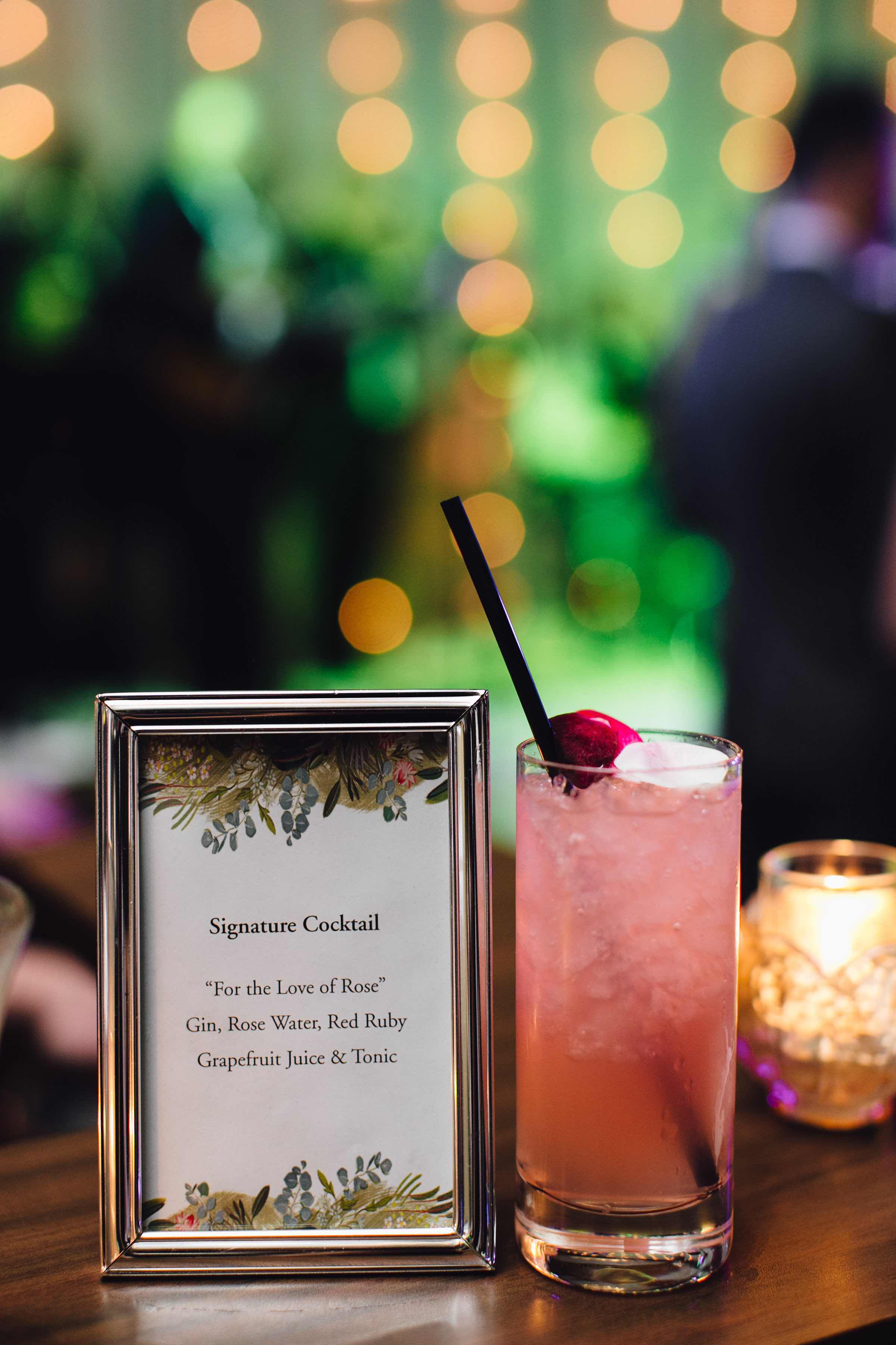 Four Seasons Baltimore Wedding: Signature Cocktail